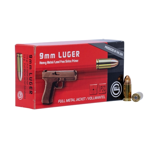 Geco 9mm Luger Ammo 115 Grain FMJ Lead Free