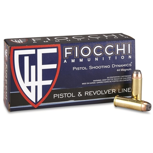 Fiocchi Shooting Dynamics 44 Remington Magnum Ammo 240 Grain JHP