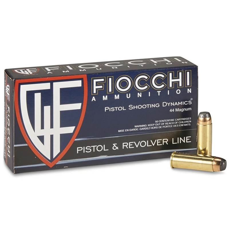Fiocchi Shooting Dynamics 44 Remington Magnum Ammo 240 Grain JSP