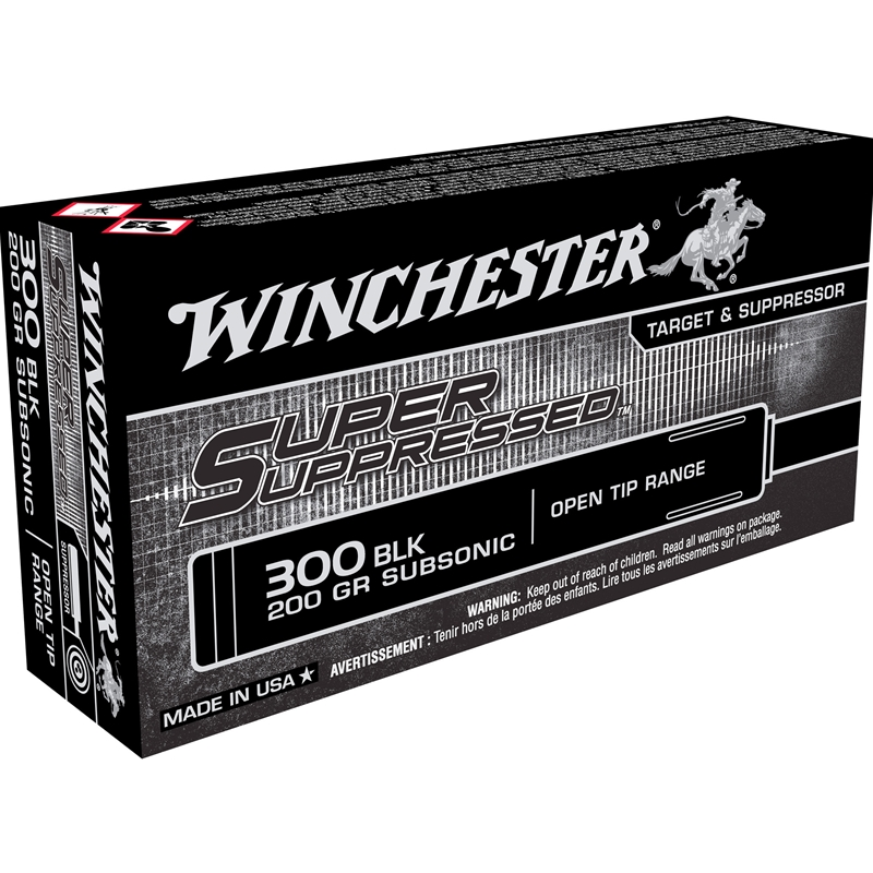Winchester Super Suppressed 300 AAC Blackout Ammo 200 Grain Full Metal Jacket OT