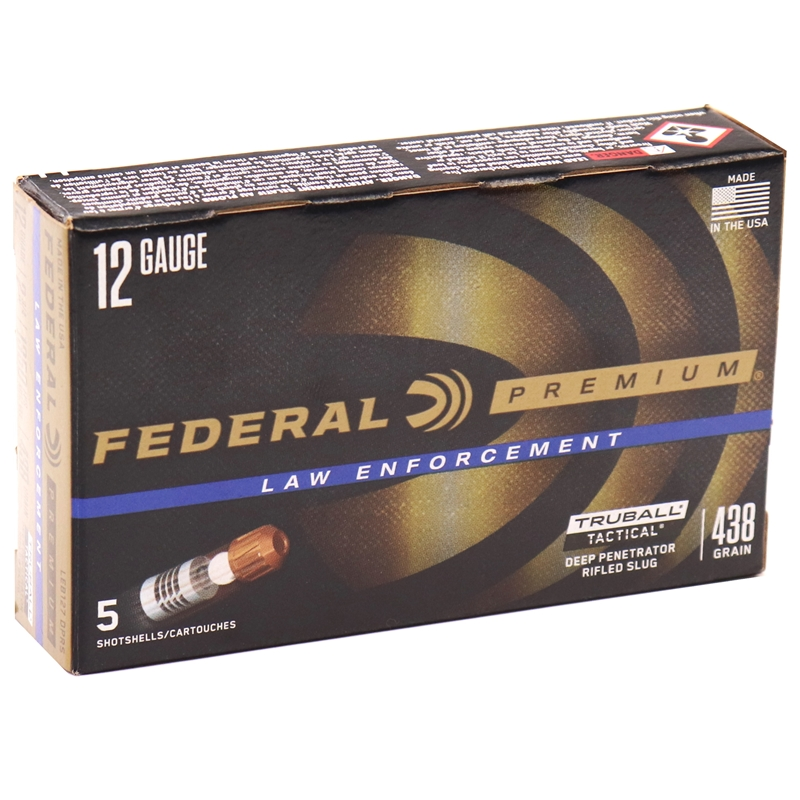 "Federal Law Enforcement 12 Ga Ammo 2-3/4"" Tactical TruBall Deep Penetrator Slug"