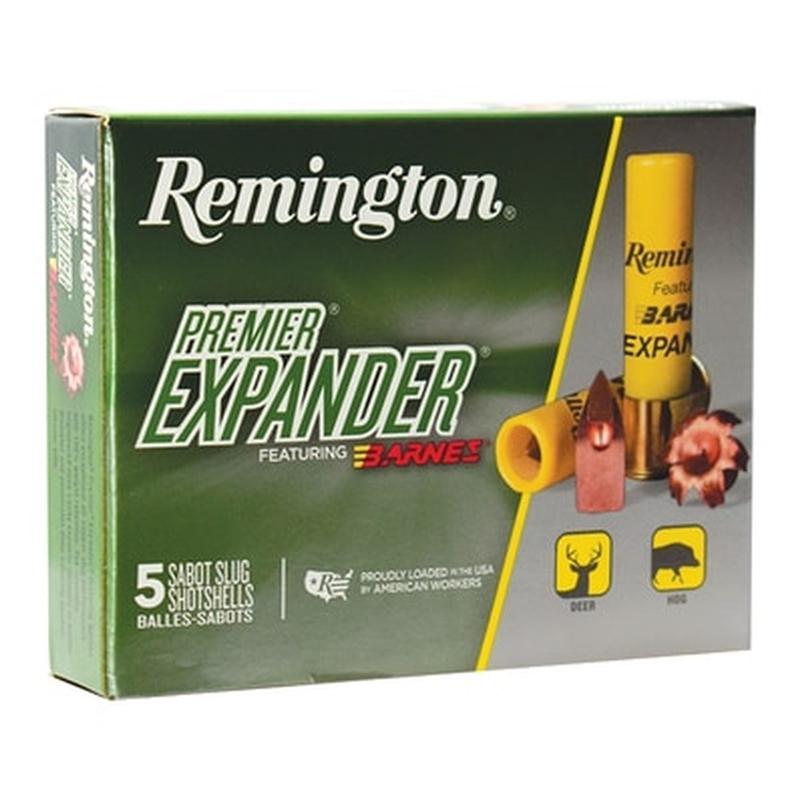 "Remington Premier Expander 20 Gauge Ammo 3"" 250 Grain Sabot Slug Shot"