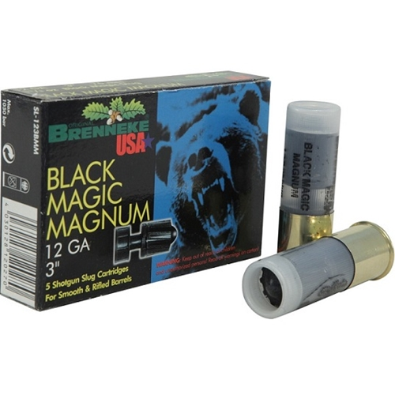 "Brenneke USA Black Magic Magnum 12 Ga Ammo 3"" 1-3/8 oz LR Slug"