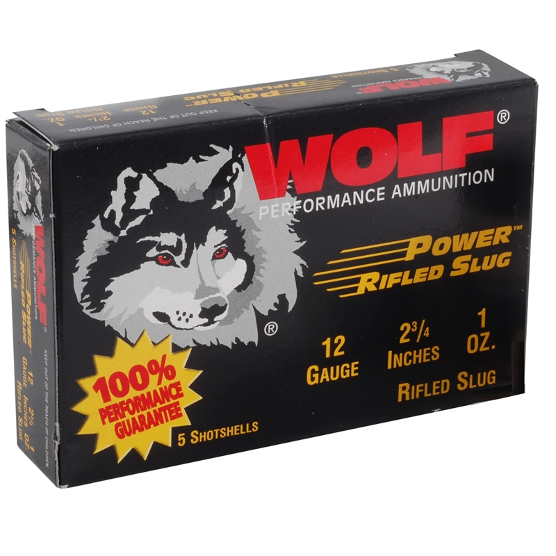 "Wolf 12 Gauge Ammo 2 3/4"" 1oz. Rifled Slug"