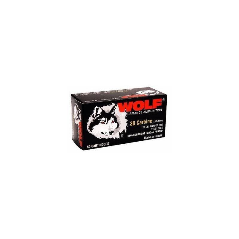 Wolf Polyformance 30 Carbine Ammo 110 Gr FMJ Steel Case