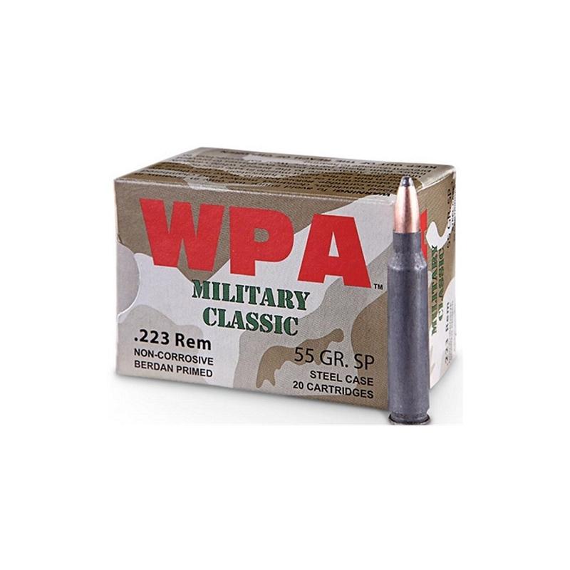 Wolf Military Classic 223 Remington 55 Gr JSP Steel Case