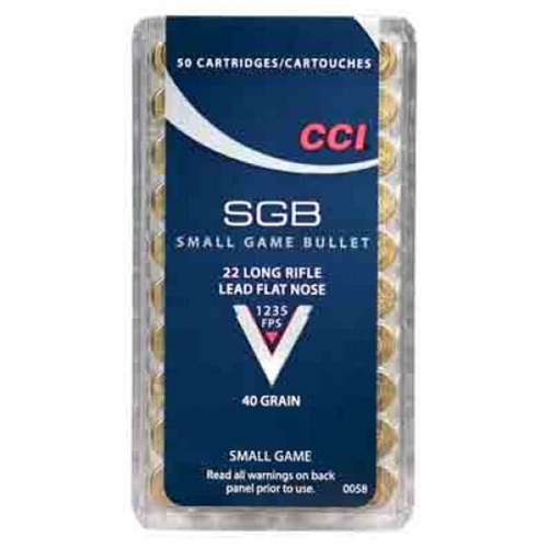 CCI SGB Small Game 22 Long Rifle Ammo 40 Grain LTC