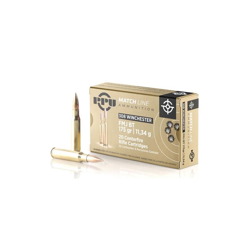 Prvi Partizan Match 308 Winchester Ammo 175 Grain FMJ