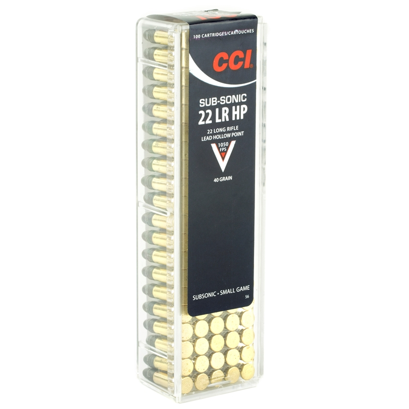 CCI Subsonic 22 Long Rifle Ammo 40 Grain Lead Hollow Point