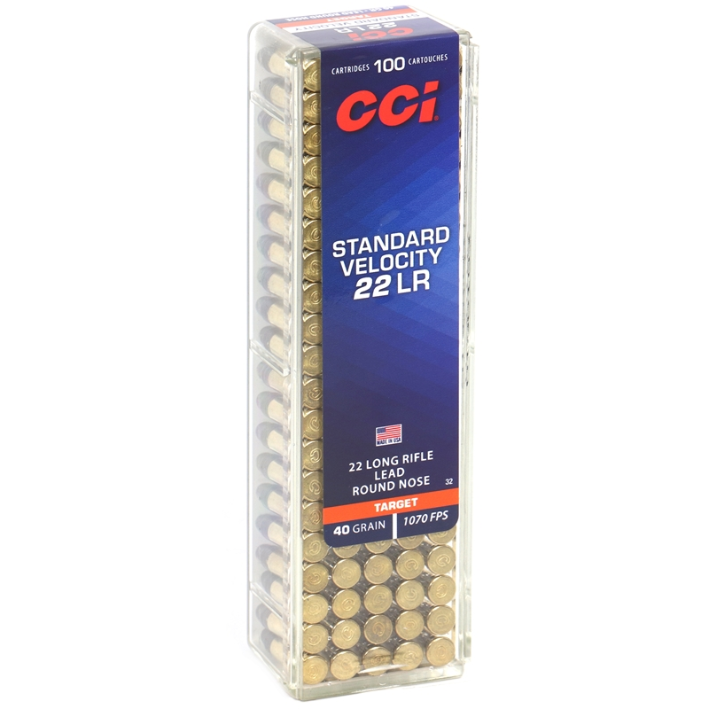CCI Standard Velocity 22 Long Rifle Ammo 40 Grain LRN