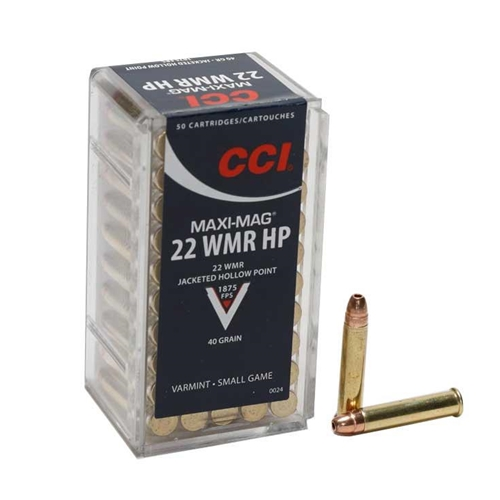 CCI Maxi-Mag 22 WMR Ammo 40 Grain Jacketed Hollow Point