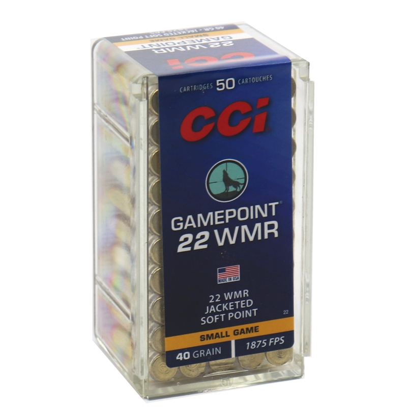 CCI GamePoint 22 WMR Ammo 40 Grain Jacketed Soft Point