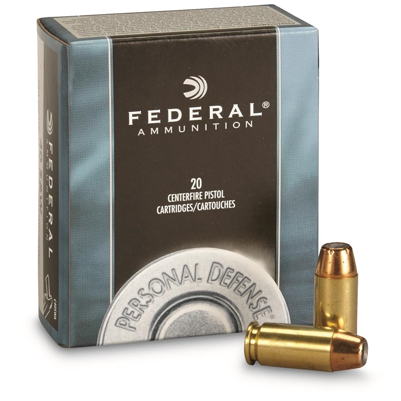 Federal Personal Defense 40 S&W Ammo 180 Grain JHP