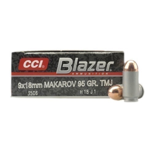 CCI Blazer 9mm Makarov Ammo 95 Grain Total Metal Jacket