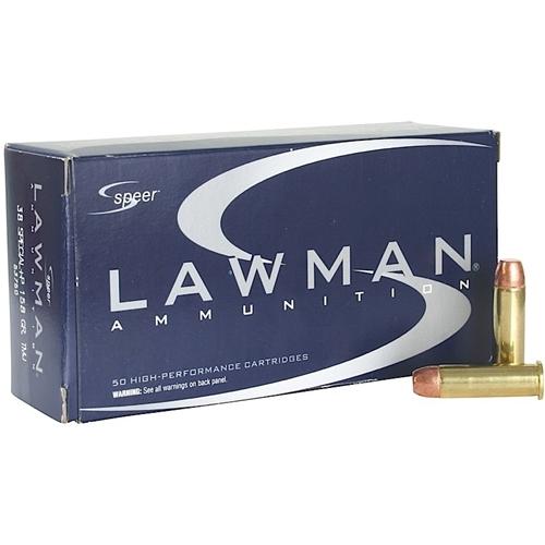 Speer Lawman 38 Special Ammo 158 Grain +P TMJ