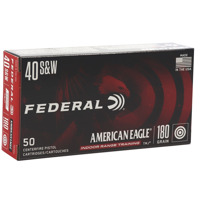 Federal American Eagle 40 S&W Ammo 180 Grain TMJ