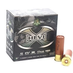 "Hevi-Shot Hevi-X 12 Gauge Ammo 2-3/4"" 1-1/16oz Tungsten Lead Free #BB Shot"