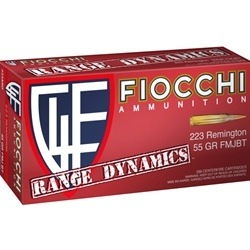 Fiocchi Range Pack 223 Remington Ammo 55 Grain FMJ 100 Rounds Bulk