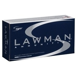 Speer Lawman CleanFire 40 S&W Ammo 180 Grain Total Metal Jacket