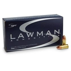 Speer Lawman CleanFire 40 S&W Ammo 165 Grain Total Metal Jacket