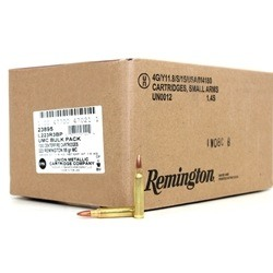 Remington UMC 223 Remington Ammo 55 Grain Full Metal Jacket Bulk 1000 Rounds