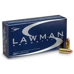 Speer Lawman CleanFire 9mm Luger Ammo 124 Grain Total Metal Jacket
